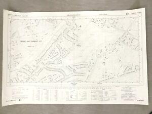1960 Vintage Map of Surrey Frimley Camberley Heath Golf Club 1960s