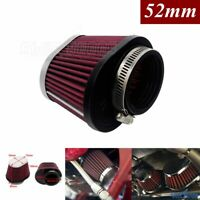 Motorcycle Air Filter Intake Cleaner For Honda Suzuki Yamaha 52mm Engine Inlet