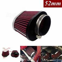 Motorcycle Air Filter Intake Cleaner For Honda Suzuki Yamaha 52mm Engine Inlet
