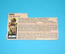 1983 GI JOE DOC v1 FILE CARD FILECARD USA HASBRO