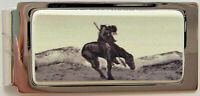 Money Clip Barlow Scrimshaw End of Trail Hinged Silver Horse 526410 n Indian NEW