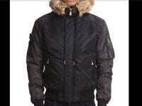 Men's Glorious Gangsta Empire Winter Parka Jacket Size L RRP £89.99 SALE