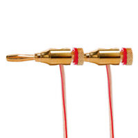 4pcs Gold Plated Banana Plugs Speaker Audio Connector Wire Cable 4mm I9Z