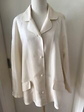Versace Jeans Couture Cream Silk Collared Blouse Shirt Large