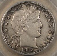 1912-D Barber Half Dollar 50c PCGS Certified AU50