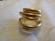Gold Tone Six Row Ring in Size M 1/2
