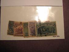 US Stamp Scott# 230,231,233,235,238 Columbian Exposition 1893  L34
