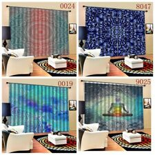 Trippy Mandala Window Curtains Bedroom Drapes Indoor Blackout Art Curtains Decor