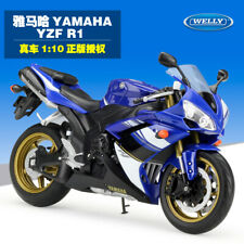 Classic Welly YAMAHA YZF-R1 Motorcycle 1:10 Model Gift Blue