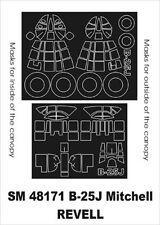 Montex Mini Mask 1:48 B-25 J Mitchell for Revell Spraying Stencil #SM48171