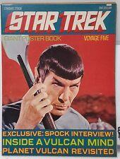 Vintage 1970s Star Trek Poster Book #5 -Spock w/ Vulcan Harp Poster- FREE S&H