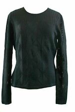 Temperley London Acacia Knit Top Jumper Black Extra Large