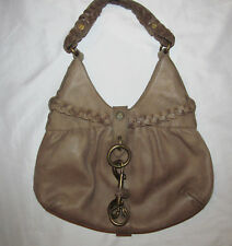 G SERIES HOBO OATMEAL G COIN Cole Haan brushed leather braided accents bag