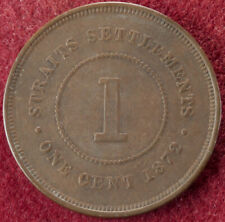 Straits Settlements 1 Cent 1872 (F2103)