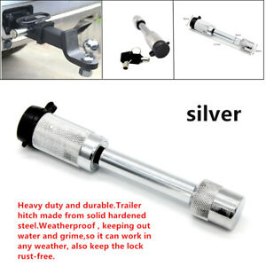 "Trailer Hitch Lock 5/8""Steel Hitch Pin&Key Anti-theft for Heavy Duty Tow Locking"