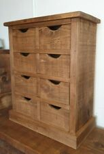 RUSTIC SOLID WOOD CHUNKY HALLWAY DRAWERS ,BATHROOM DRAWERS , HALLWAY STORAGE