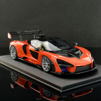 Top Speed 1:18 Scale McLaren Senna 2018 Orange Super Sports Car Resin Car Model