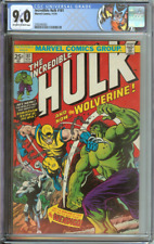 INCREDIBLE HULK #181 CGC 9.0 OW/WH PAGES / 1ST FULL APPEARANCE OF WOLVERINE 1974