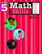 Math Skills: Grade 5 (Flash Kids Harcourt Family Learning)