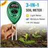 3 In1 Soil PH Tester Water Moisture Light Test Meter for Garden Flower Plant