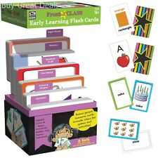 New Early Learning 324 Flash Cards Alphabet Numbers Words