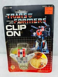 Transformers Original G1 1984 Merchandise Starscream Clip On Sealed On Card MOSC