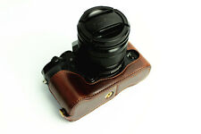 Coffee Leather Half case bottom bag grip for Fujifilm Fuji X-T1 IR camera XT1 IR