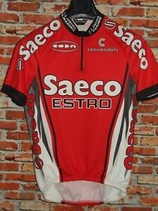 Bike Cycling Jersey Shirt Maillot Cyclism Team Saeco Estro Cannondale Size M