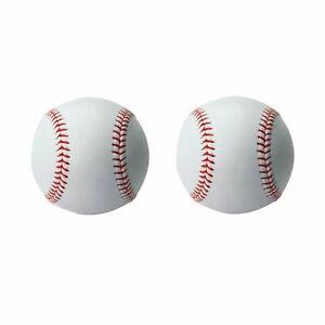 Soft Leather Sport Practice Training Base Softball 2 Pack
