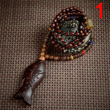 Retro Wood Beads Necklaces Stone Pendant Long Sweater Necklace Women Jewelryn6t 4
