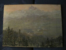 French Alps & Passy Lake - Sydney Long - Australian Artist - 1912 Oil Painting