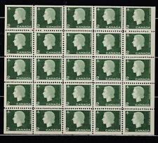 1962 #402a 2¢ QUEEN ELIZABETH II CAMEO ISSUE  MINI PANE of 25 F-VFNH