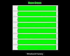 100 x Tyvek Neon Green Party Function Event Wristbands