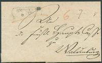 GERMANY Pre philatelic Cover 1847 VF