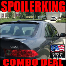 COMBO DEAL!!! Acura TSX 2004-2008 04 05 06 07 08 Rear Roof Spoiler & Trunk Wing