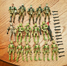 STAR WARS Clone Trooper Kashyyk Lot of 16 W Commander Gree LOOSE