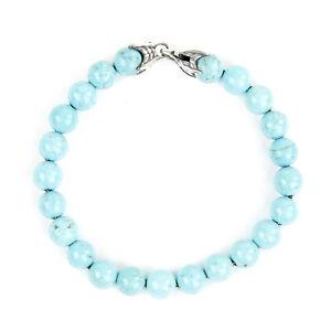 DAVID YURMAN Men's Turquoise Spiritual Bead Bracelet $595 NEW