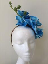 NEW blue orchid fascinator on a cream headband!