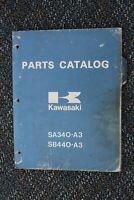 1979 Kawasaki DRIFTER SA340-A2 SB440-A3 Snowmobile 1978 Part Catalog 99960-3503