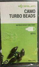 KORUM CARP CAMO TURBO BEADS - QTY 5 - FISHING TACKLE