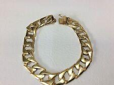 "34 Grams 12.2mm 8.5"" Mens 14k Yellow Solid Gold Cuban Miami Curb heavy Bracelet"