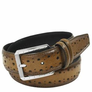 Stacy Adams Metcalf 34mm Brogue Belt