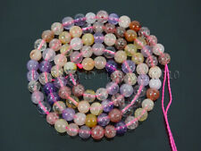 89Pcs Mixed Natural Quartz Gemstone Round Beads 15.5'' 4mm Amethyst Strawberry