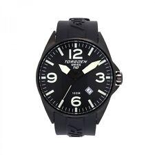 New Torgoen T10 T10301 Men's 3 Time Calendar Chronograph Sport Watch PU Strap