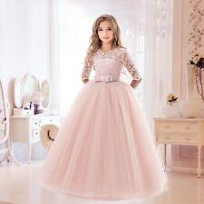 Flower Girls Princess Dress Kids Party Lace Tulle Wedding Birthday Dresses