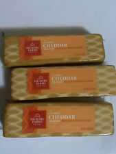 Hickory Farms Smoked Cheddar Blend Block Cheese 10 ounce Lot Of 3 Expires: 7/20