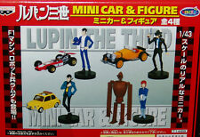 NEW SEALED Banpresto LUPIN the 3rd MINI CAR & FIGURE SET COMPLETE 4 pc.set
