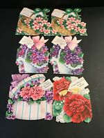 """6 VINTAGE GREETING CARDS FROM THE 40'S & 50'S DIE CUT """"HALLMARK"""""""