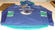 NHL Hockey Reebok Edge Team Jersey Hoodie Hoody Sweatshirt Vancouver Canucks S