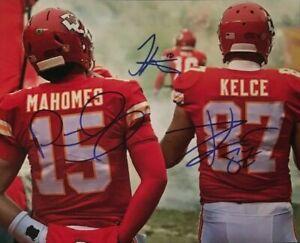 Patrick Mahomes / Travis Kelce CHIEFS Signed Autographed 8 x 10 Photo REPRINT